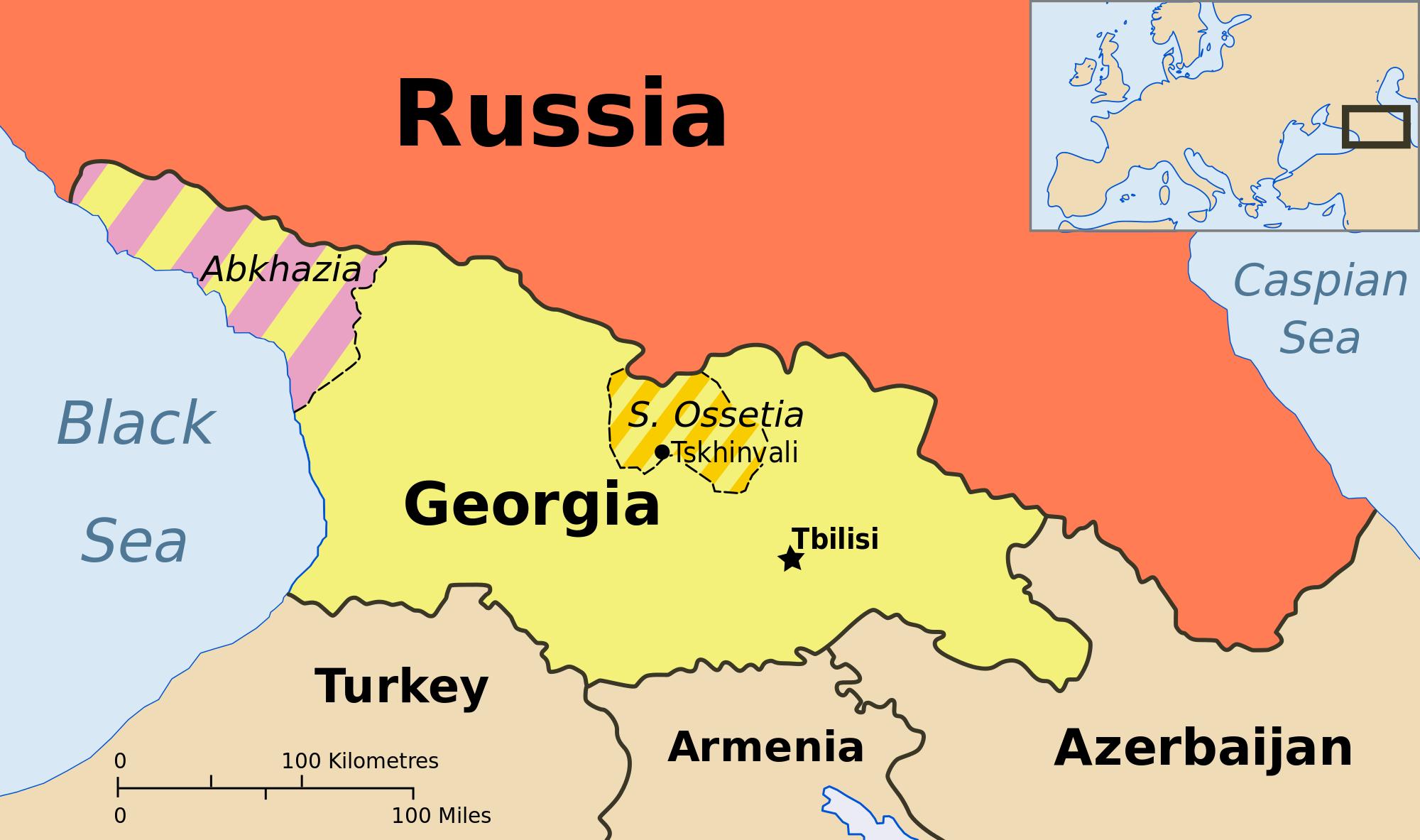 TehranTbilisi Cooperation Financial Tribune - Georgia map 2014