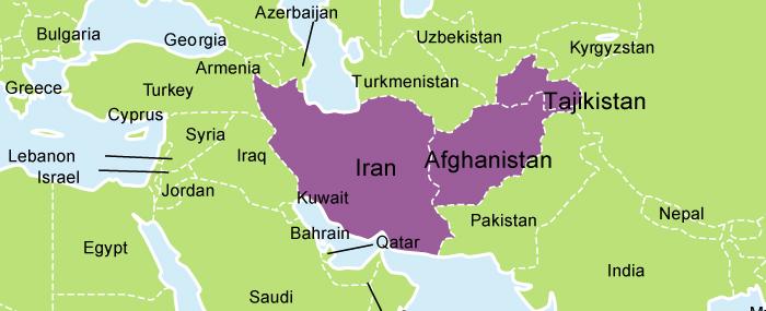 FarsiSpeaking Universities To Meet Financial Tribune - Farsi language map