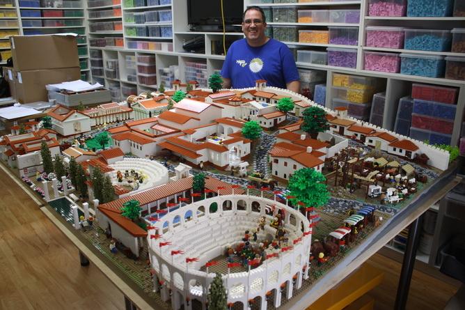 Lego Blocks Recreate Ancient City of Pompeii | Financial Tribune