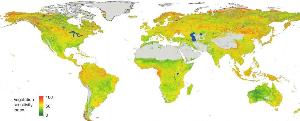 Researchers Publish Climate Sensitivity Map Financial Tribune - Climate world map