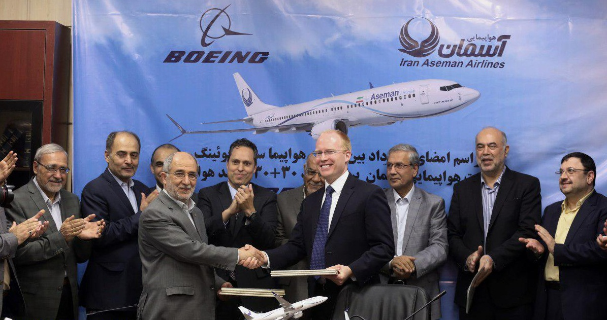 Iran company finalizes deal with Boeing to buy 60 planes