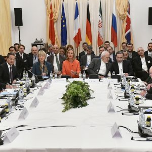Representatives of Iran and five world powers as well as EU foreign policy chief meetin a ministerial meeting on the Iran nuclear deal on July 6 in Vienna, Austria.