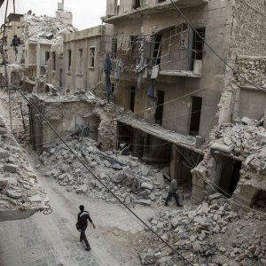 Many buildings have been destroyed during the seven-year insurgency.