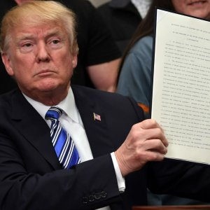 US President Donald Trump levied a 25% tariff on steel and 10% on aluminum imports into the United States.