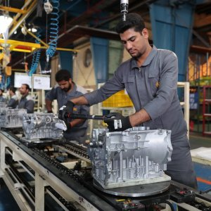 Kerman Motor's production lines (File Photo)