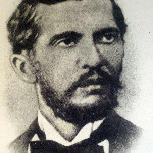 A portrait of Naim Frasheri
