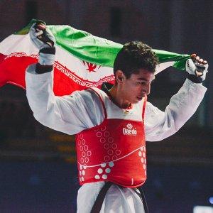 Hossein Lotfi of Iran won gold.