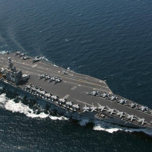 Navy Drone Flies Over US Warship