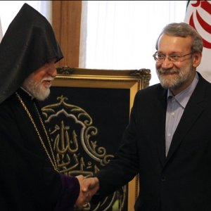 Speaker Meets Senior Armenian Cleric