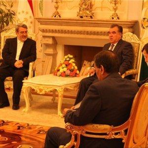 Minister Meets Tajik President