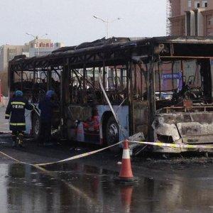China Bus Fire Kills 14
