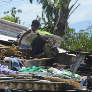 Fiji Cyclone Leaves Trail of Death, Destruction