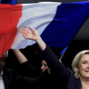 National Front Leads in  France Polls