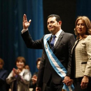 Ex-Comic Inaugurated as New Guatemala President