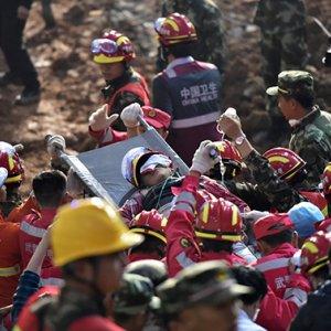 Man Found Alive in China Landslide