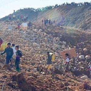 100 Missing After Myanmar Landslide
