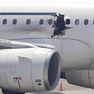 "Somali Plane ""Holed by Bomb"""