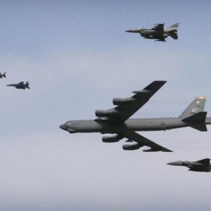 US Flies Bomber Over S. Korea