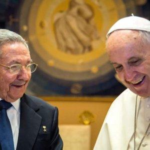 Cuba President Meets Pope Francis
