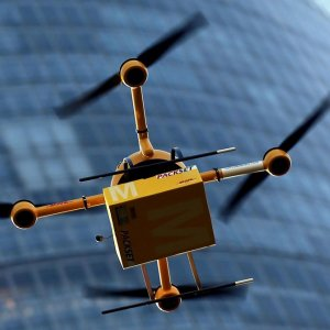 Drones Fly Over Paris
