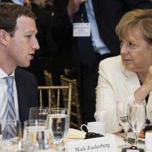 Zuckerberg Promises Merkel  to Fight Hate Speech