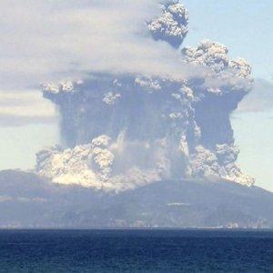 Japanese Volcano Erupts, Residents Flee