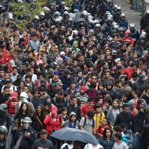 Mass Protests in Mexico City Over Missing Students
