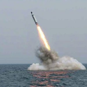 N. Korea Modified Submarine-Launched Missile Photos