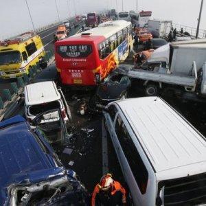 S. Korea Bridge Pile-up