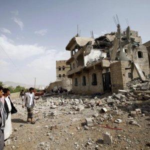 Saudi-Led Warplanes Pound Yemen's Interior Ministry