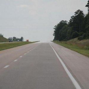 Concrete Roads under Construction