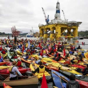 'Paddle in Seattle' Arctic Oil Drilling Protest