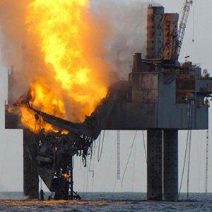 32 Azeri  Workers Die  in Caspian Fire