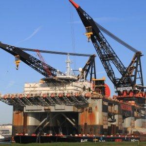 Giant Platform Installed in Clair Oilfield