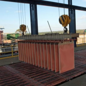 Copper Cathode Production on Schedule