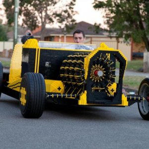 Man Creates Working Car From Lego