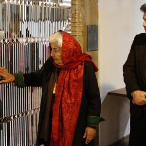 Artist Visits Her  Art Works After 40 Years