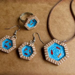 Clay Jewelry in Old Persian Symbols