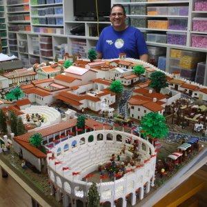 Lego Blocks Recreate Ancient City of Pompeii