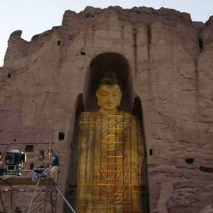Afghanistan's Destroyed Buddha Statues Return as Ghostly Projections