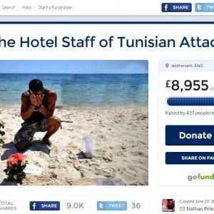 British Tourist Raises £9,000 for Tunisia Hotel Staff
