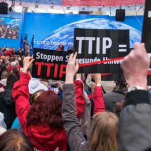 Protesters Across Europe Condemn TTIP Trade Deal