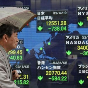 Asian Shares Plunge, Europe Steady