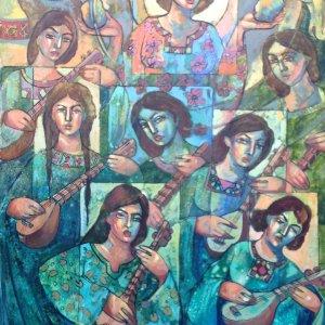 Women's Social Status on Canvas