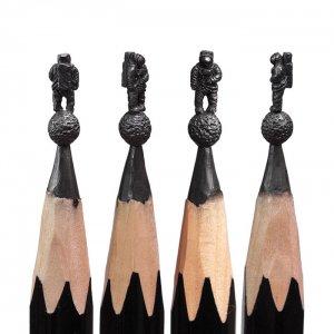 Pencils Turned Into Miniature Sculptures