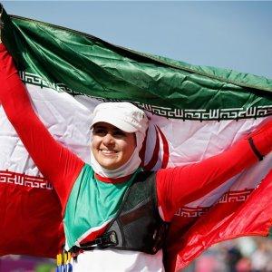 Female Archer Iran Flag-Bearer for Olympics