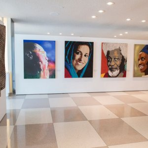 Motamed-Arya Portrait on UN Wall