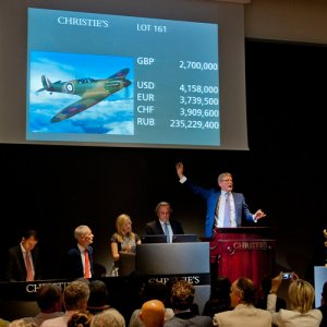 Restored WW II Spitfire Auctioned  for $4.8m