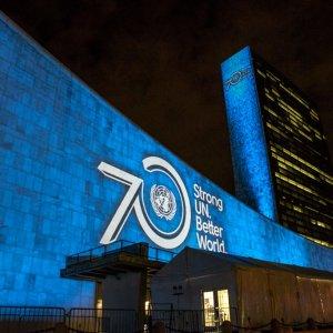 World to Turn Blue for UN 70th Anniv.