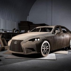 Origami-Inspired Car Made With Cardboard